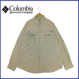 Columbia - 90's ヴィンテージ コロンビア Columbia メッシュボタンダウンシャツ