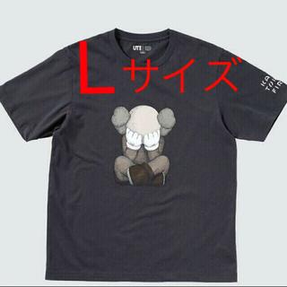 UNIQLO - ユニクロ カウズ KAWS 新品 Tシャツ Lサイズ ダークグレー色