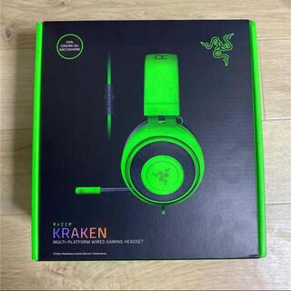 レイザー(LAZER)のゲーミングヘッドセット Razer レイザー Kraken Green (ヘッドフォン/イヤフォン)