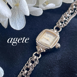 agete アガット  チェーンブレス 時計 稼働中