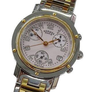 エルメス(Hermes)のエルメス CL1.321 クリッパー ナクレ クロノグラフ ピンクシェル(腕時計)