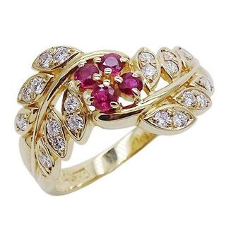 アクアスキュータム(AQUA SCUTUM)のアクアスキュータム ダイヤモンド リング 指輪 750YG 約12号(リング(指輪))