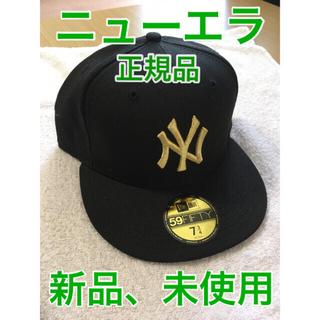 NEW ERA - ニューエラキャップ NEW ERA 59FIFTY ヤンキース ブラックゴールド