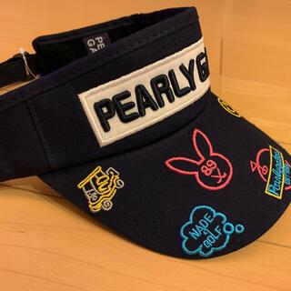 PEARLY GATES - ☆新品☆ パーリーゲイツ ゴルフ サンバイザー 濃紺 カラフル 男女兼用