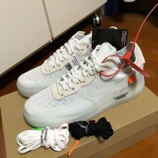 27.5 THE 10 OFF WHITE × NIKE AIR FORCE 1(スニーカー)