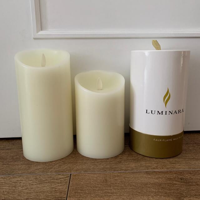ルミナラ 2個セット アイボリー コスメ/美容のリラクゼーション(キャンドル)の商品写真