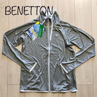 BENETTON - 新品 ベネトン UVカット ラッシュガード 水着 大きいサイズ 3L グレー