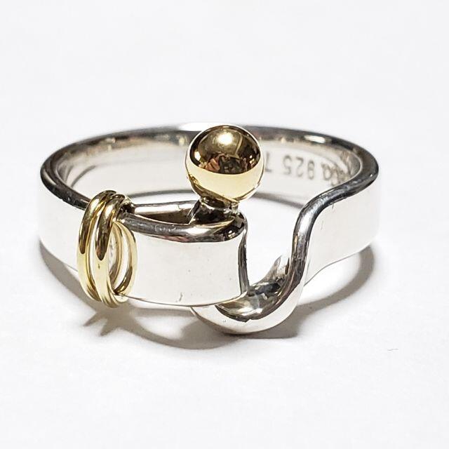Tiffany & Co.(ティファニー)の仕上済☆ティファニー☆リング☆指輪☆フックアンドアイ☆K18×925☆11号☆ レディースのアクセサリー(リング(指輪))の商品写真