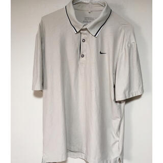ナイキ(NIKE)のNIKE ナイキ ポロシャツ 夏服 運動 L Lサイズ ベージュ(ポロシャツ)
