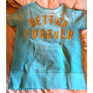 ロンハーマン(Ron Herman)のロンハーマン 古着風デザインのトレーナー生地Tシャツ 120サイズ キッズ(Tシャツ/カットソー)