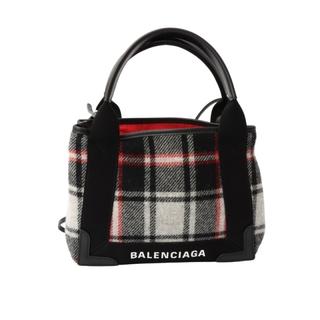 Balenciaga - バレンシアガ BALENCIAGA ネイビーカバXS ショルダーバッグ【中古】