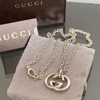 Gucci - 良品 グッチ ネックレス GG インターロッキング チェーン Silver925