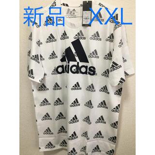 adidas - 【新品タグ付き】adidas ロゴ総柄 Tシャツ