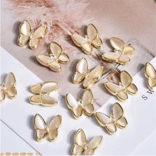 ネイルパーツ 蝶 蝶々 バタフライネイル ゴールド シルバー 黄色