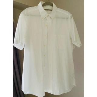 UNIQLO - 2枚まとめ ユニクロ ホワイト シャツ 通勤用 着用回数3回 メンズ 半袖