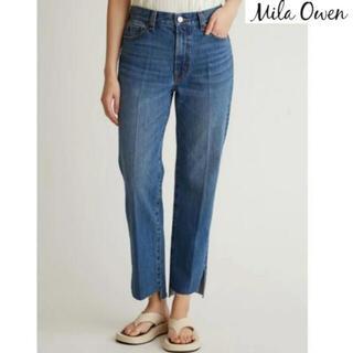 Mila Owen - 【新品同様】ミラオーウェン 裾段差脇スリットデニムパンツ