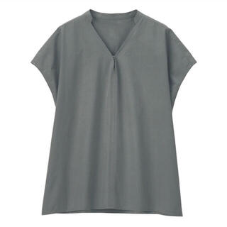 ムジルシリョウヒン(MUJI (無印良品))の新品 無印良品  インド綿高密度織りブラウス (シャツ/ブラウス(半袖/袖なし))