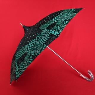 クリスタルジェミー - クリスタルジェミー チェンジ 傘 折りたたみ 晴雨兼用 UV グリーン ブラック