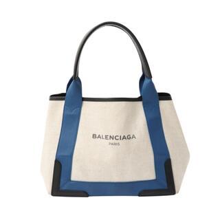 Balenciaga - バレンシアガ BALENCIAGA ネイビーカバス ハンドバッグ レデ【中古】