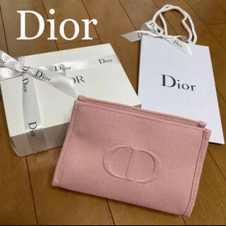 クリスチャンディオール(Christian Dior)のディオール ピンク ノベルティ ポーチ 箱有り 新品未使用(ポーチ)