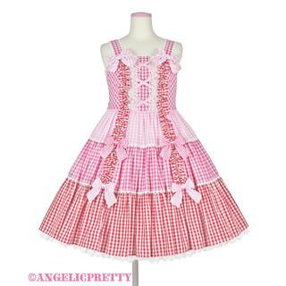 Angelic Pretty - Angelic Pretty ギンガム配色肩リボンジャンパースカート