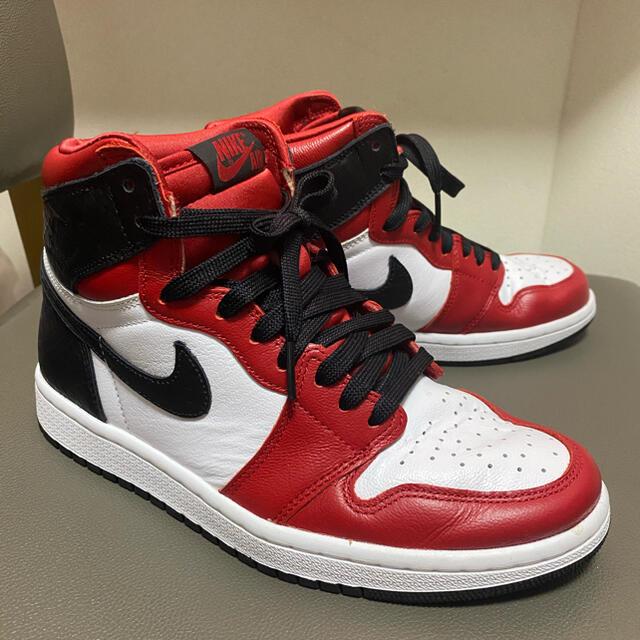 NIKE(ナイキ)のNike airjordan1 satin red サテンスネーク レディースの靴/シューズ(スニーカー)の商品写真