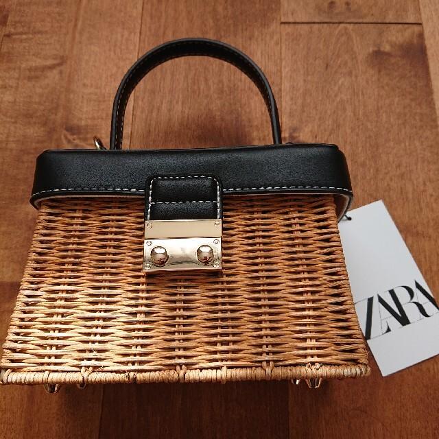 ZARA(ザラ)の新品未使用 ZARA ハンドルウォーブンミノディエール ザラ ミニバッグ レディースのバッグ(ショルダーバッグ)の商品写真