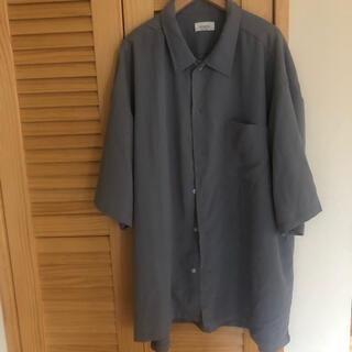 JUNRED - JUNRED 韓国風 オープンカラーシャツ 五分丈 オルチャン
