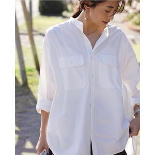 東原亜希 forme ビッグシャツ ホワイト