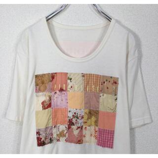 PINK HOUSE - ピンクハウス/PINK HOUSE 半袖Tシャツ テディベア&フラワープリント