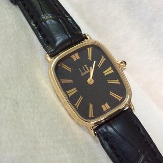 ダンヒル(Dunhill)の希少・良品‼️ dunhill  ダンヒル スクエア型 レディース 腕時計(腕時計)