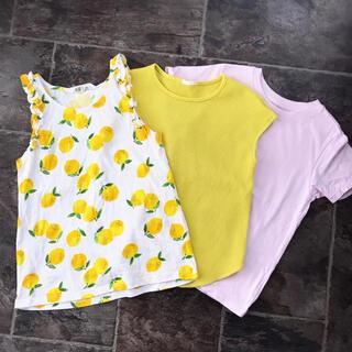 H&M - 女の子 Tシャツ ノースリーブ 3枚セット[美品]