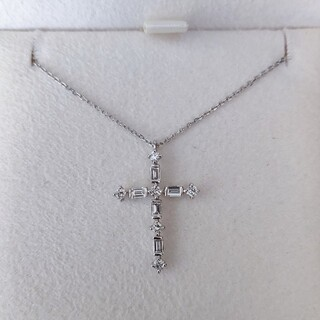 STAR JEWELRY - スタージュエリー ダイヤモンド クロス ネックレス Pt950 0.27ct