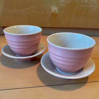 ルクルーゼ(LE CREUSET)のルクルーゼ ティーカップ カップ&ソーサー ピンク(食器)