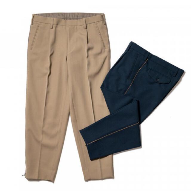 kolor(カラー)の21AW kolor カラー テーパードパツン ネイビー2 金ジップ メンズのパンツ(スラックス)の商品写真