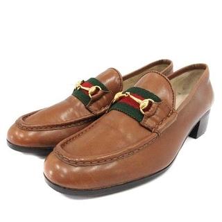 グッチ(Gucci)のオールドグッチ シェリーライン ホースビットローファー(ローファー/革靴)