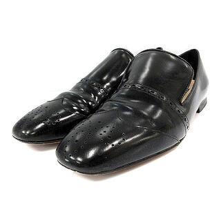 ファビオルスコーニ(FABIO RUSCONI)のファビオルスコーニ ローファー レザー メダリオン 37 23.5cm 黒(ローファー/革靴)