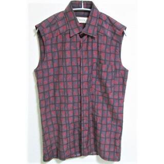 オート(HAUTE)のHAUTE オート デザイン ノースリーブシャツ イタリア製☆シルク♪(シャツ)