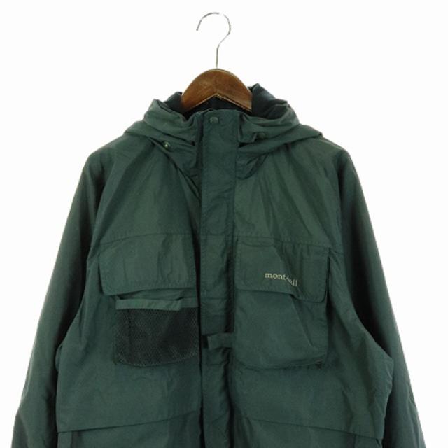 mont bell(モンベル)のモンベル ジャケット マウンテンパーカー ロゴ S モスグリーン 緑 カーキ メンズのジャケット/アウター(マウンテンパーカー)の商品写真