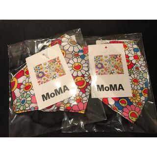 モマ(MOMA)の【新品未使用】村上隆×MoMA マスクカバー 2個セット(キャラクターグッズ)