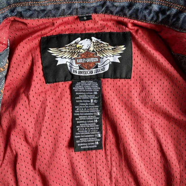 Harley Davidson(ハーレーダビッドソン)のハーレーダビットソン デニムジャケット/Gジャン 刺繍 スタッズ レディースのジャケット/アウター(Gジャン/デニムジャケット)の商品写真