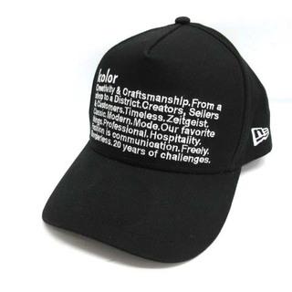 カラー(kolor)のカラー NEWERA 20SS キャップ 野球帽 帽子 ロゴ F 黒 ブラック (キャップ)