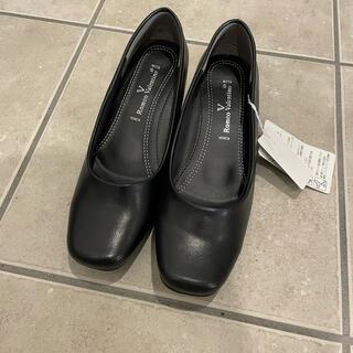 新品未使用 合皮パンプス ブラック 黒 EEE(ハイヒール/パンプス)