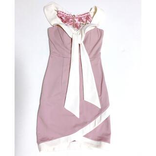 ROBE - 美品!ローブドフルール キャバドレス Mサイズ ピンクドレス タイトワンピース
