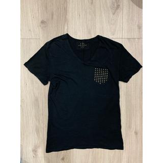 ZARA - Tシャツ ザラ スタッズ ブラック Sサイズ