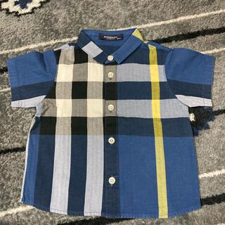 BURBERRY - ma様専用☆美品☆バーバリー チェックシャツ 青 80