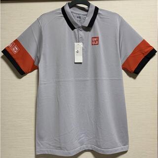 ユニクロ(UNIQLO)のユニクロ NK ドライ EX ポロシャツ グレー XLサイズ 錦織圭 未使用品(ウェア)