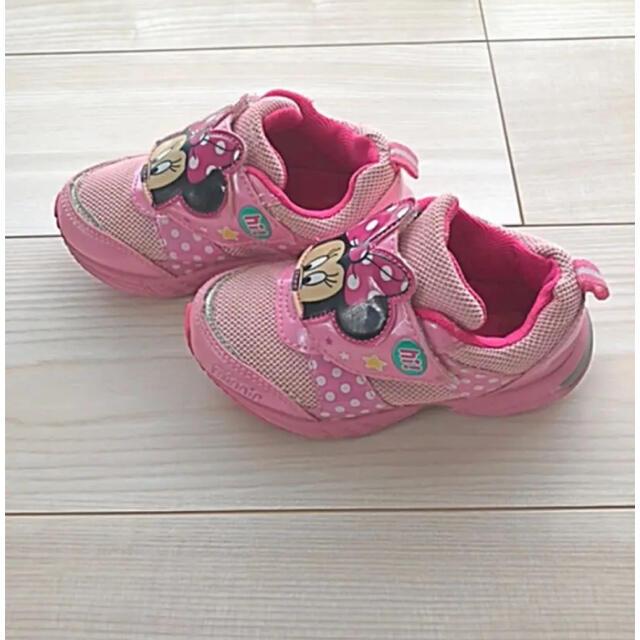 Disney(ディズニー)のキッズ★女の子★ディズニー★ミニーちゃん★スニーカー★16cm★ キッズ/ベビー/マタニティのキッズ靴/シューズ(15cm~)(スニーカー)の商品写真