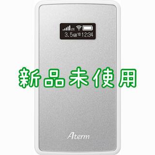 エヌイーシー(NEC)の【新品未使用】モバイルルーター MP02LN SW メタリックシルバー(PC周辺機器)