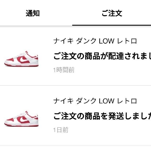 NIKE(ナイキ)の【早いもの勝ち!】NIKE dunk チャンピオンシップレッド メンズの靴/シューズ(スニーカー)の商品写真